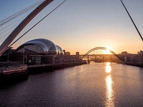 Things to do on Newcastle Quayside- view of sage
