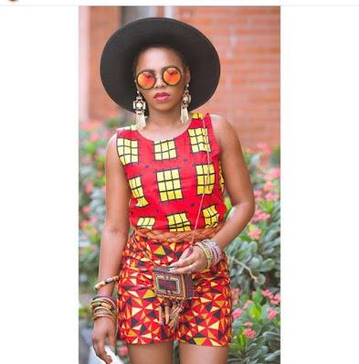 Chidinma Ekile looks stunning in simple Ankara styles