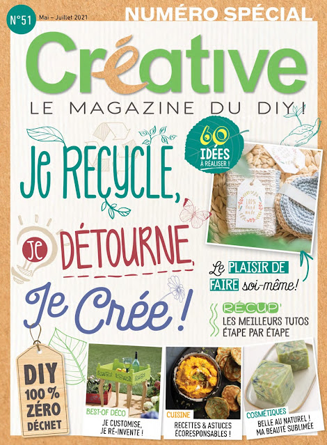 Photo of the cover of a French craft magazine