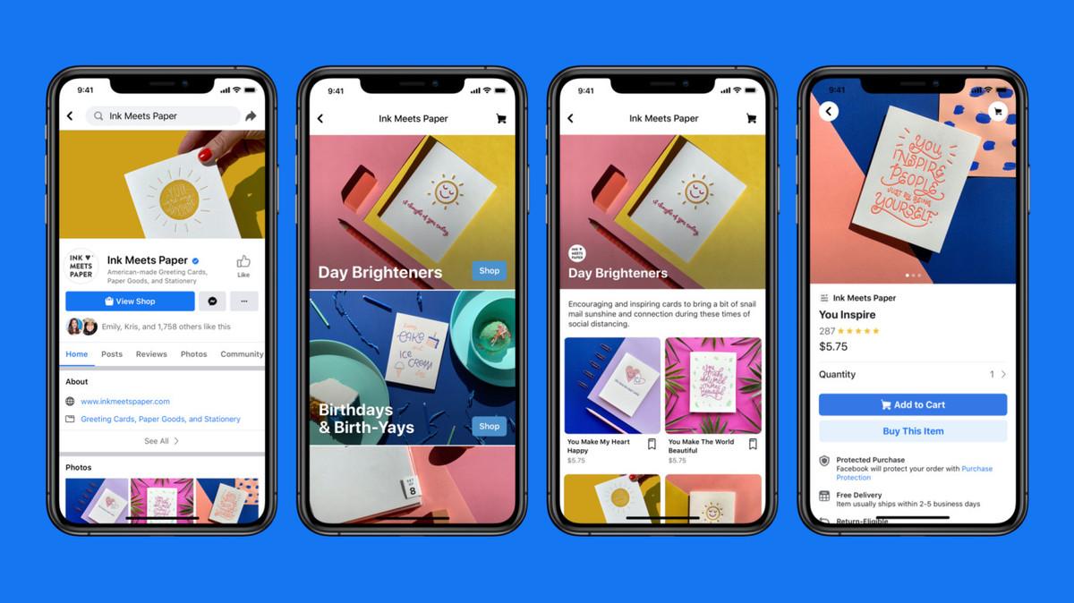 ميزة Shops الجديدة عبر الفيس بوك لإنشاء المتاجر الإلكترونية في خدماتها