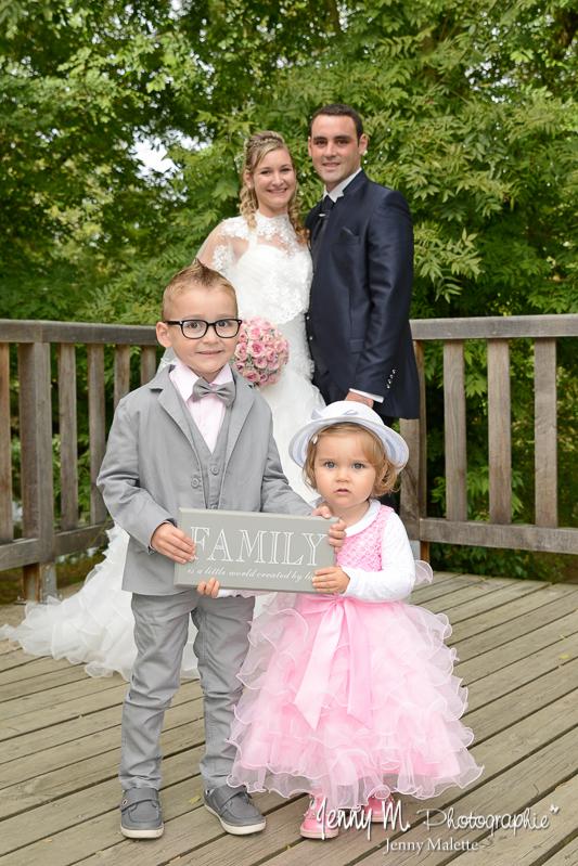 séance couple after day photo originale mariés avec leurs enfants