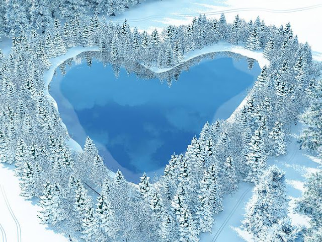 3DCG、リアルイラスト、ハート池、冬の風景、植物、樹氷、寒い景色、イラストレーター検索、イラストレーター一覧、イラスト制作