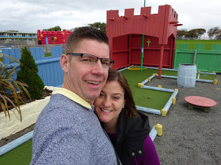 Crazy Golf course at Pontins Prestatyn Sands Holiday Village