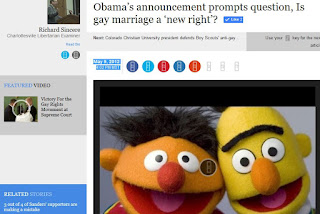 Bert Ernie gay marriage archives Barack Obama 2012