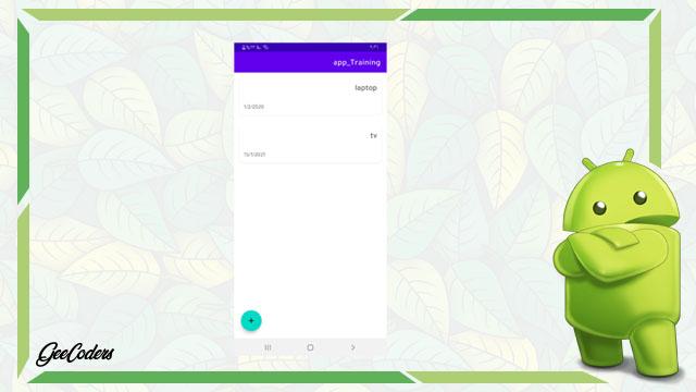 كيفية عرض الطلبات التي قام بها المستخدم داخل Recyclerview في الاندرويد ستوديو