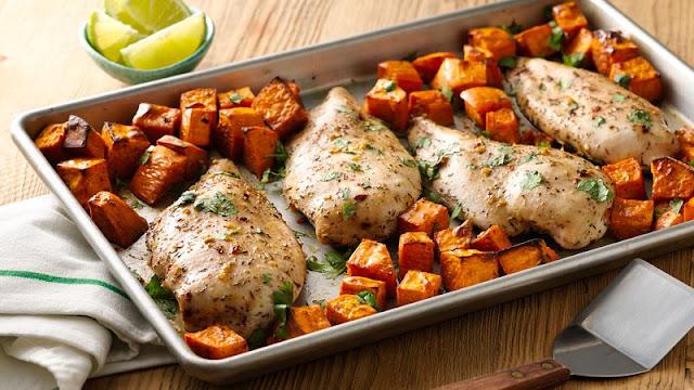 Jerk Chicken with  Sweet Potatoes