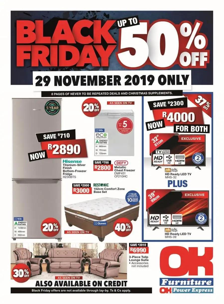 OK Furniture Black Friday 2019 deals - Page 1 of 8
