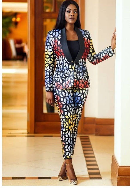 Latest Ankara Jacket and Ankara Pants For Ladies
