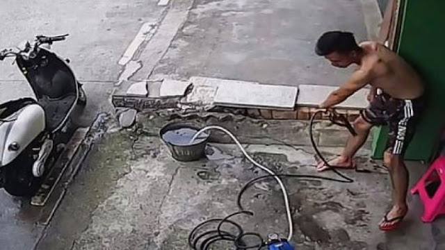 Τον χτυπούσε το ρεύμα για 20 δευτερόλεπτα αλλά έζησε (video)