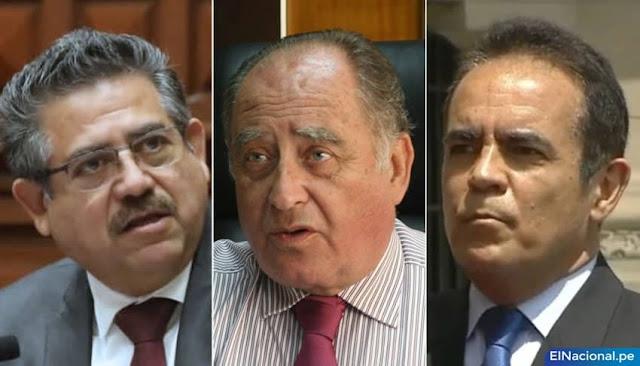 Manuel Merino de Lama, Ántero Flores-Aráoz y Gastón Rodríguez.