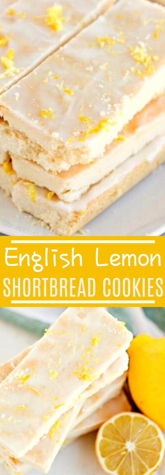 English Lemon Shortbread Strips #cookies #recipes #desserts #lemon #easy