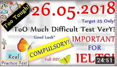 IELTS LISTENING PRACTICE TEST 2018 WITH ANSWERS | 26.05.2018