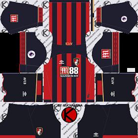 A.F.C. Bournemouth 2018/19 Kit - Dream League Soccer Kits
