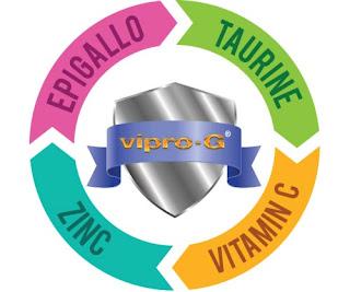 4 anti oksidan dalam vipro-g epigallocatechin gallate vitamin c 1000 zinc picolinate taurine