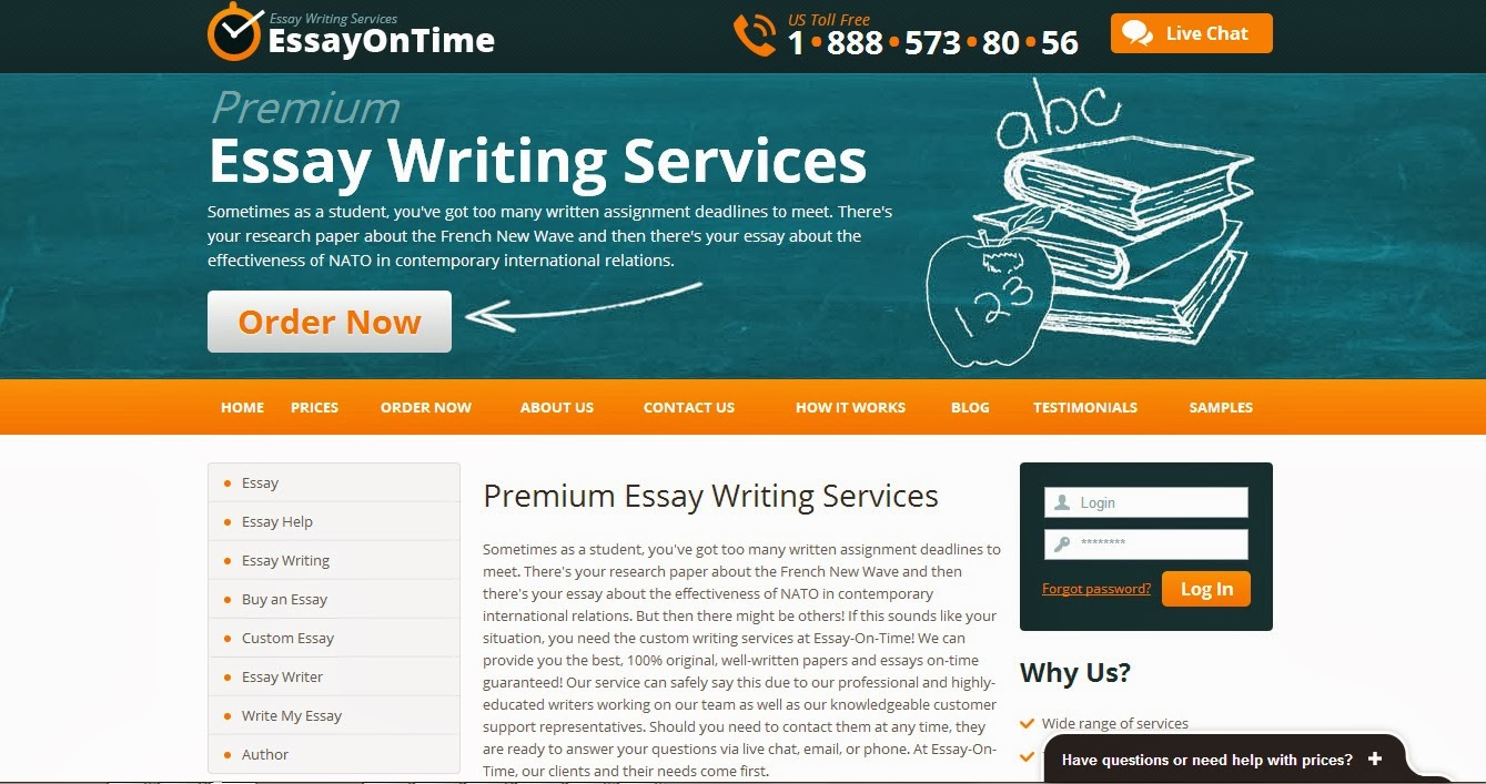 using essay writing service