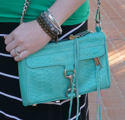 rebecca minkoff aquamarine snake embossed leather mini MAC bag