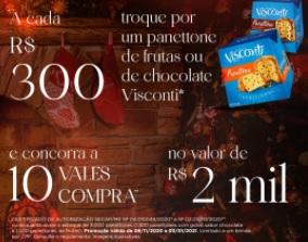 Promoção Natal 2020 Shopping Fiesta Ganhe Panetone Concorra Vales-Compras 2 Mil Reais