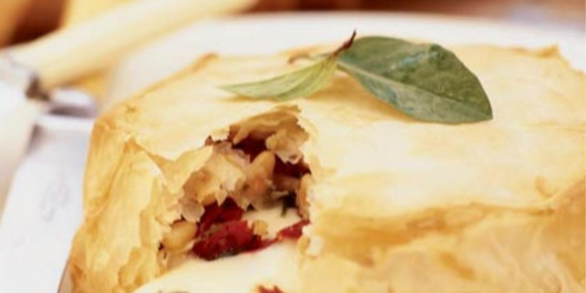 Phyllo-Wrapped Brie with Hot Honey and Anchovies