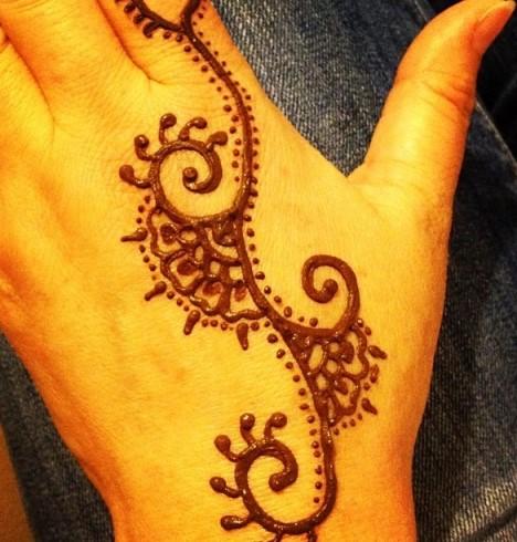 Motif Henna Yang Simple Dan Mudah Brad Erva Doce Info
