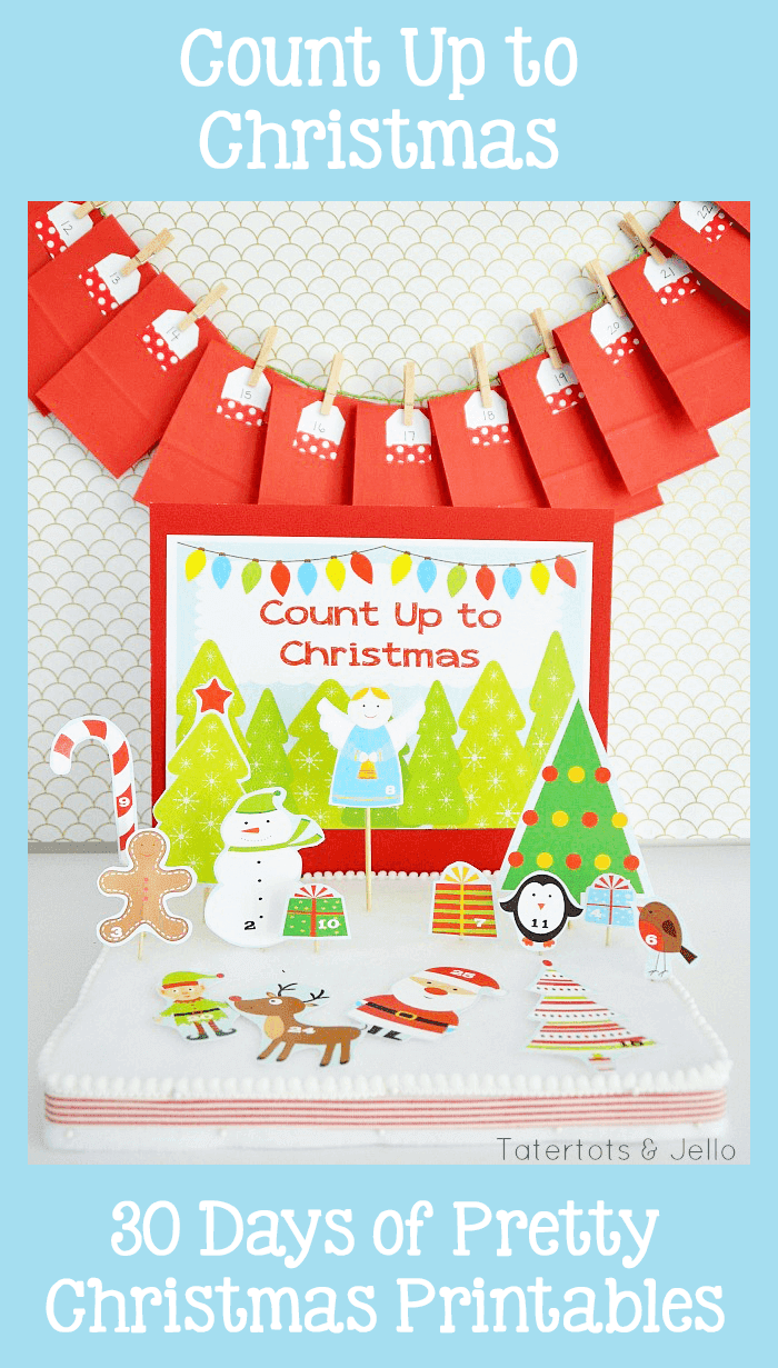 Count Up to Christmas Advent Calendars. 30 Days of Pretty Christmas Printables. Hosted by Grade ONEderful Designs