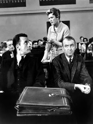 Anatomy of a Murder - James Stuart, George C. Scott, and Eve Arden