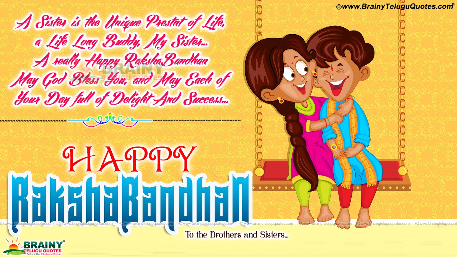 Happy Raksha Bandhan Wishes With Cool Greeting Cards For Brother