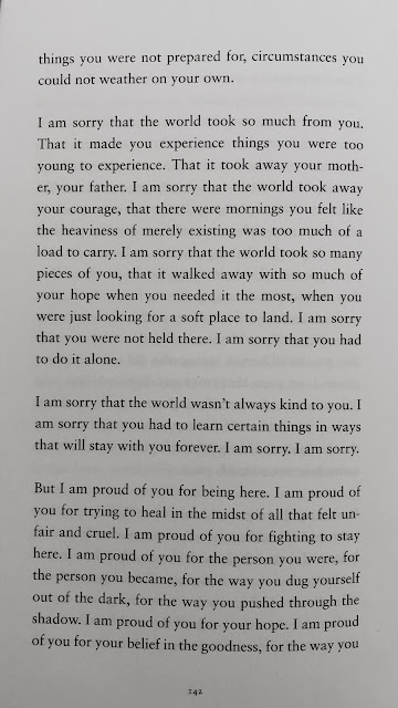 i am sorry that the world took so much from you