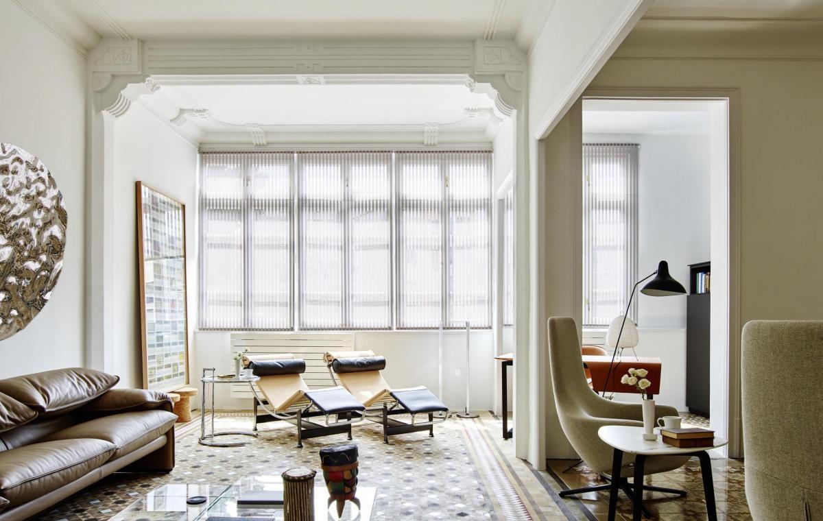 A wonderful art nouveau apartment in Barcelona
