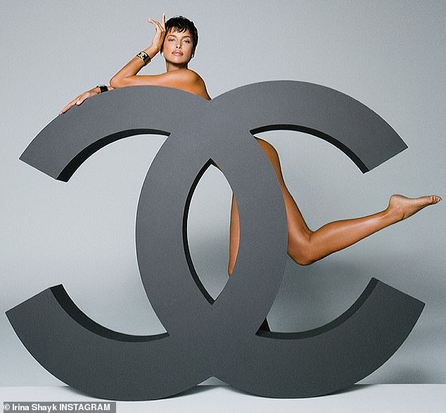 Irina Shayk goes totally n.ude for cheeky shot with the timeless Chanel logo