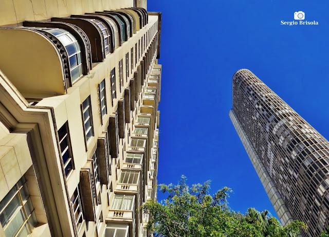 Perspectiva inferior dos Edifícios São Tomás e Itália - República - São Paulo