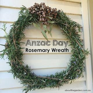anzac day wreath rosemary diy tutorial