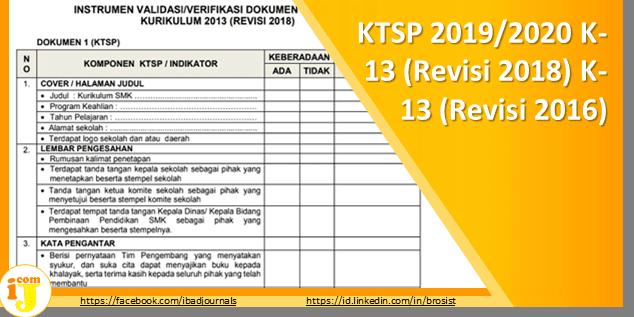 KTSP 2019/2020 K-13 (Revisi 2018) K-13 (Revisi 2016)