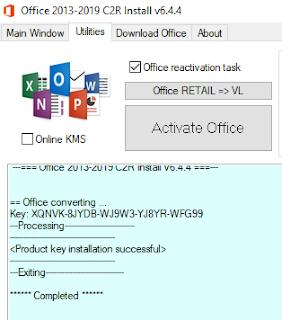 activasi permanen office tanpa product key