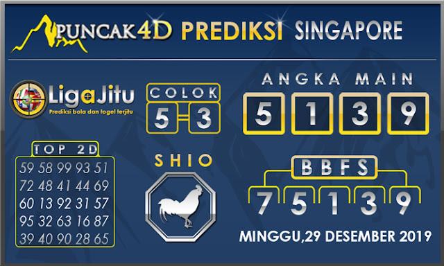 PREDIKSI TOGEL SINGAPORE PUNCAK4D 29 DESEMBER2019