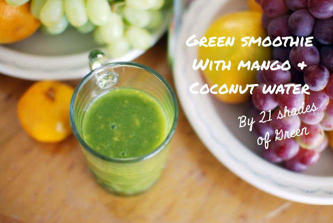 Green Smoothie Drink Healthy Recipe Food Blog 21 shades of Green