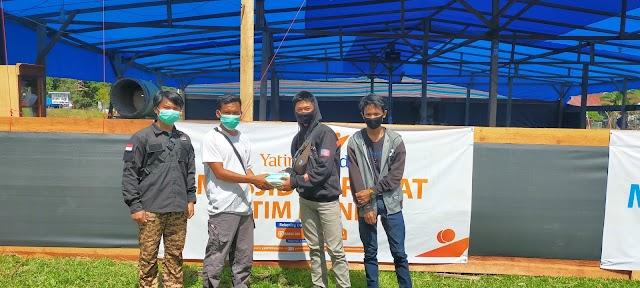 Peduli, Osis Man 2 Polman Bagikan Ribuan Masker Ke Pengungsian Gempa Bumi Sulbar