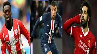 أسرع 10 لاعبين في دوري أبطال أوروبا لعام 2020...بينهم المصري محمد صلاح