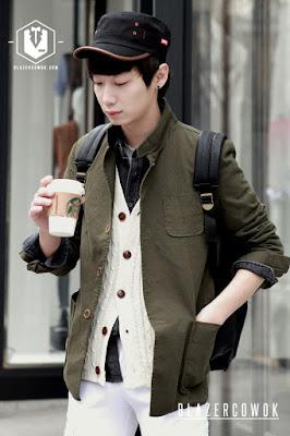 blazer cowok blazercowok.com jaket korean jas pria sk42 green a