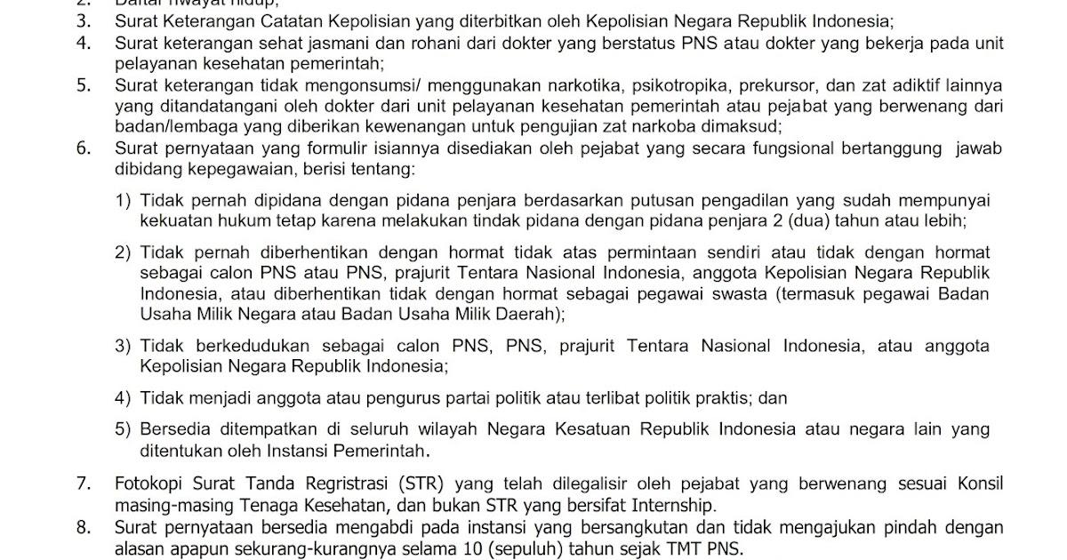 Lengkap Contoh Surat Lamaran CPNS dan Surat pernyataan ...