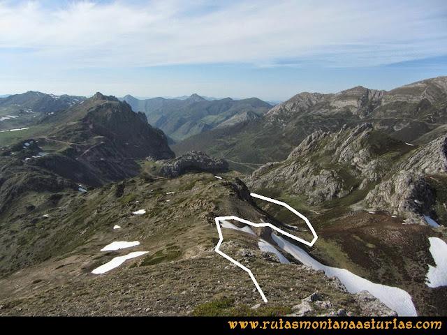 Ruta Farrapona, Albos, Calabazosa: Abertura Arenera camino al Lago La Cueva