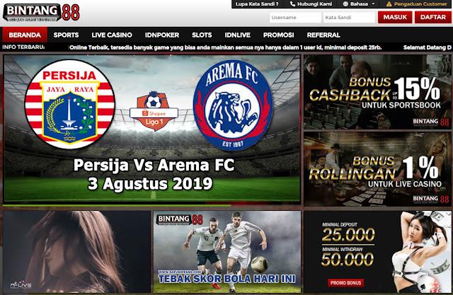 Tebak Skor Bola - Persija Vs Arema FC 3 Agustus 2019