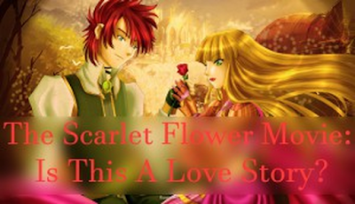 the scarlet flower, 1952 soviet animated movie, film, love story, beauty and the beast fairytale
