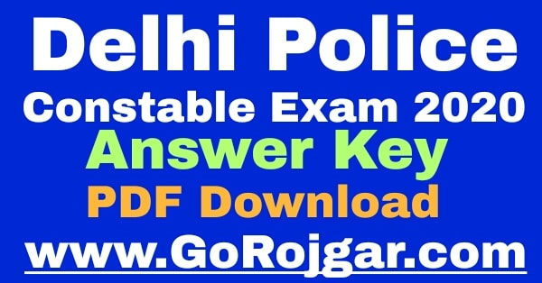 SSC Delhi Police Constable Answer Key 2020 Download  SSC Delhi Police Constable Exam Answer Key Solved Question Paper PDF