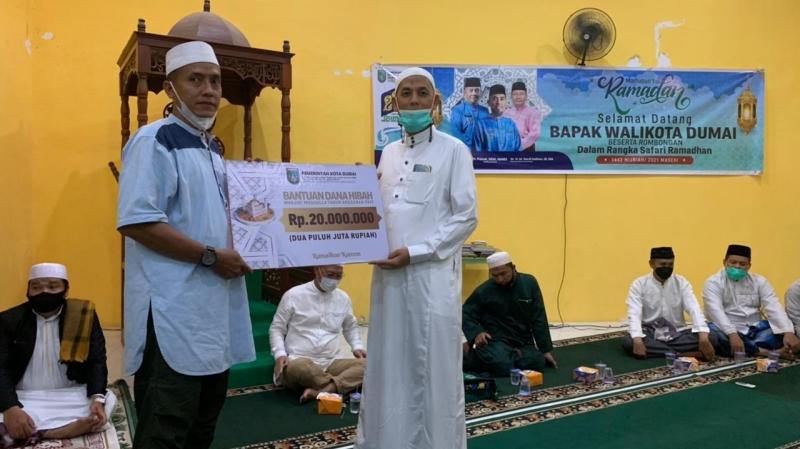Wali Kota Dumai Kunjungi Masjid Al A'Raaf pada Malam Kedua Safari Ramadhan