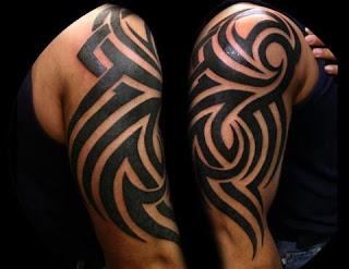 tato tribal di dada