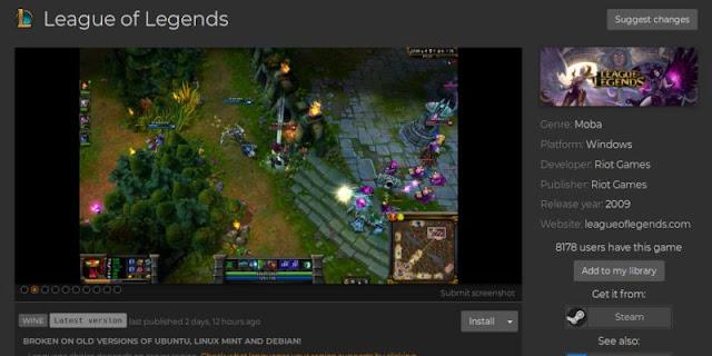 كيفية تثبيت League of Legends في لينكس