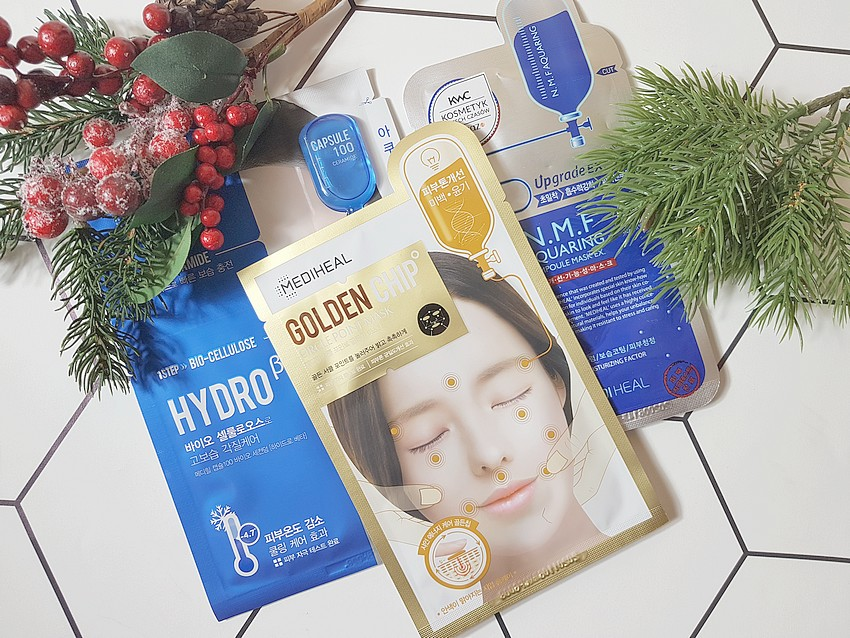 koreańskie maseczki do twarzy na tkaninie