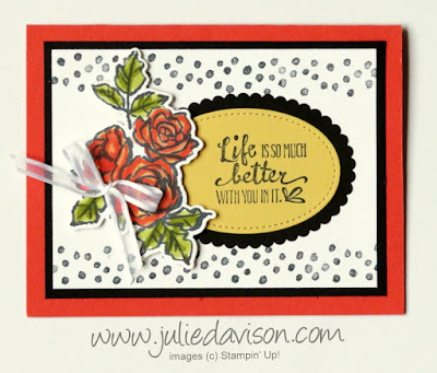 Stampin' Up! Petal Palette Bundle Rose Card ~ 2018 Occasions Catalog ~ www.juliedavison.com