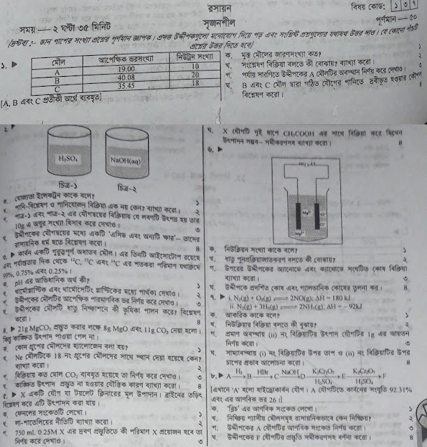 SSC Chemistry Model Question - 06
