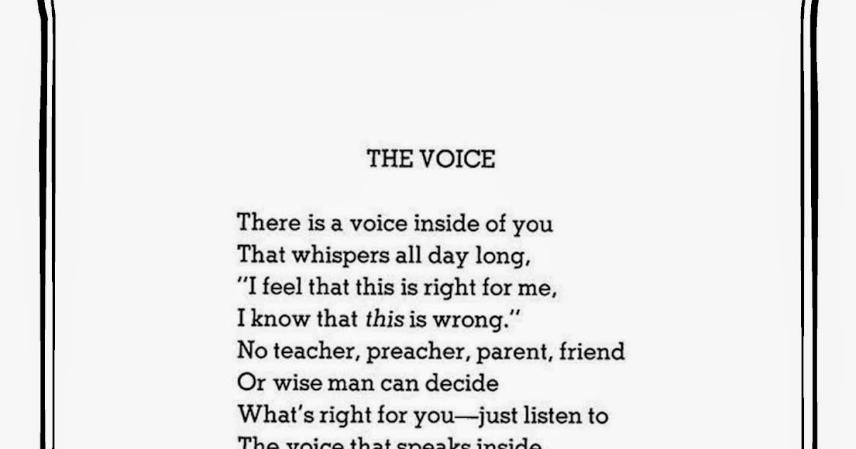 The Voice By Shel Silverstein: I,Teacher: Calligraphy Club: Shel Silverstein Handrwriting